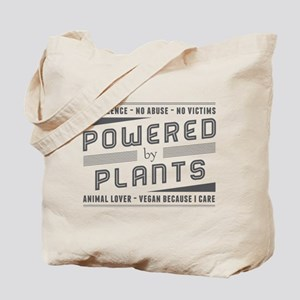 No Violence Powered by Plants Tote Bag