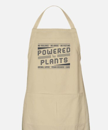 No Violence Powered by Plants Apron