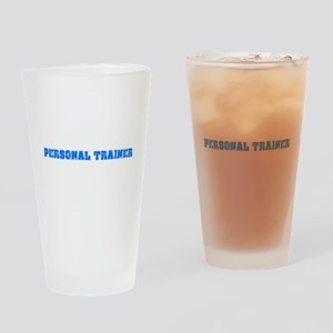Personal Trainer Blue Bold Design Drinking Glass