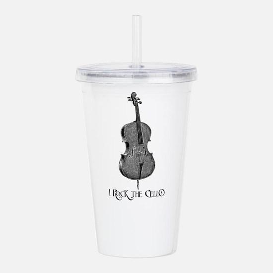 I Rock the Cello Acrylic Double-wall Tumbler