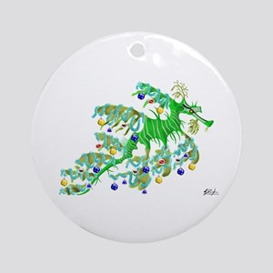 Festive Sea Dragon Ornament (Round)