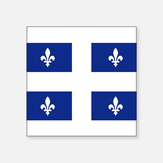 "Cute Quebec Square Sticker 3"" x 3"""