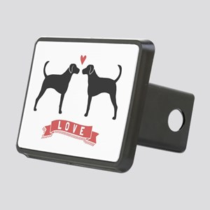 Foxhounds Love Rectangular Hitch Cover