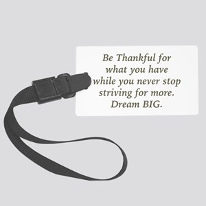 Be Thankful Luggage Tag