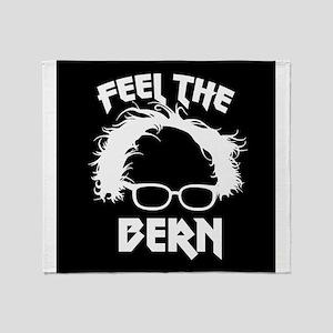 Feel the Bern Metal Badass Throw Blanket