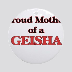 Proud Mother of a Geisha Round Ornament