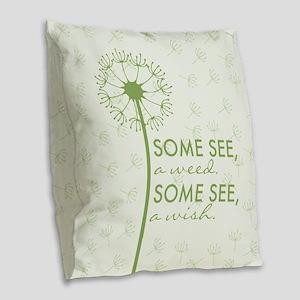 Dandelion Burlap Throw Pillow