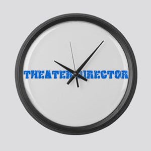Theater Director Blue Bold Design Large Wall Clock