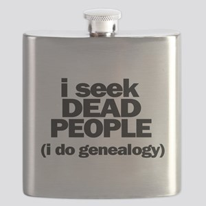 I Seek Dead People (Genealogy) Flask