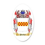 Purday Oval Car Magnet
