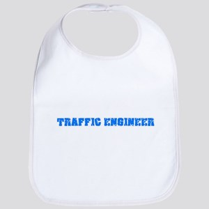 Traffic Engineer Blue Bold Design Baby Bib