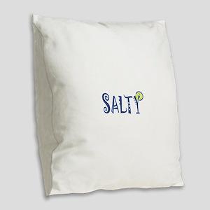 Salty Margarita Burlap Throw Pillow