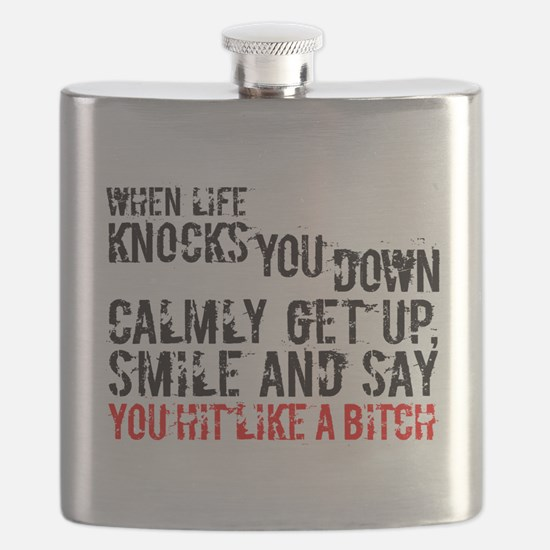 Cute Hard knocks Flask