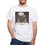 Raccoon Dining White T-Shirt