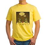 Raccoon Dining Yellow T-Shirt