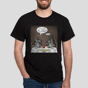 Raccoon Dining Dark T-Shirt