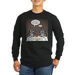 Raccoon Dining Long Sleeve Dark T-Shirt