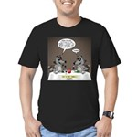 Raccoon Dining Men's Fitted T-Shirt (dark)