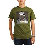 Raccoon Dining Organic Men's T-Shirt (dark)