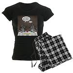 Raccoon Dining Women's Dark Pajamas