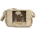 Raccoon Dining Messenger Bag