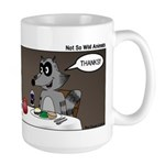 Raccoon Dining Large Mug