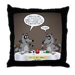Raccoon Dining Throw Pillow