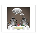 Raccoon Dining Small Poster