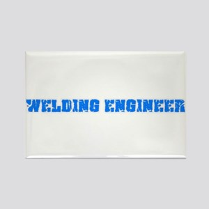 Welding Engineer Blue Bold Design Magnets