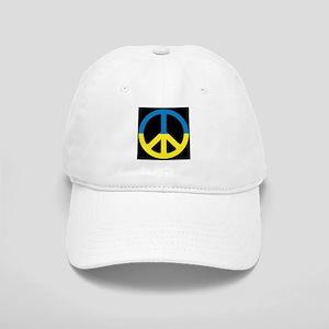 Peace Sign Ukraine Flag Cap