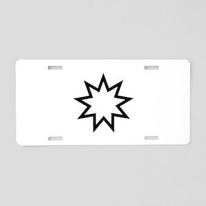 Bahá'í symbol - nine-pointe Aluminum License Plate