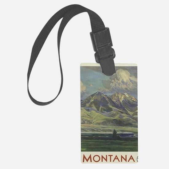 Funny Montana Luggage Tag