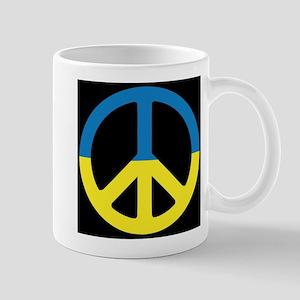 Peace Sign Ukraine Flag Mugs
