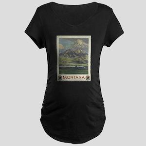 Vintage poster - Montana Maternity T-Shirt