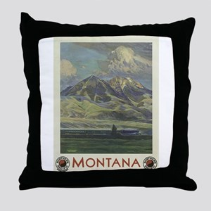 Vintage poster - Montana Throw Pillow