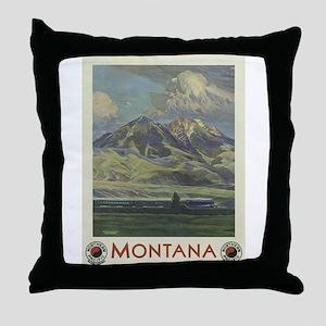 Vintage poster - Montana Throw Pillow