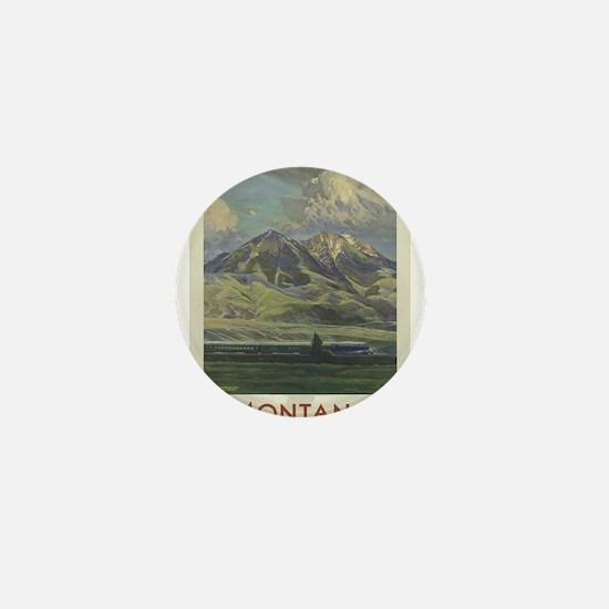 Vintage poster - Montana Mini Button