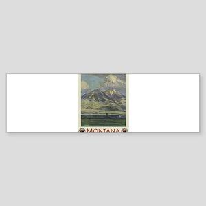 Vintage poster - Montana Bumper Sticker