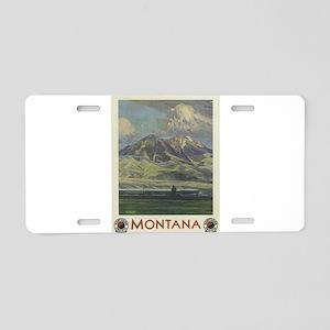 Vintage poster - Montana Aluminum License Plate
