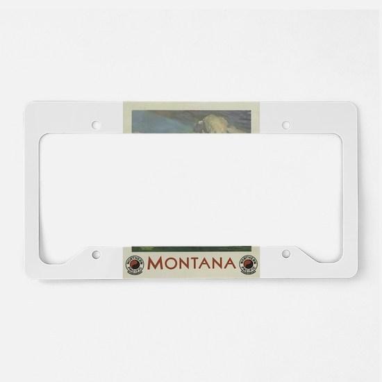 Vintage poster - Montana License Plate Holder