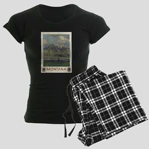 Vintage poster - Montana Women's Dark Pajamas