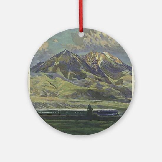 Vintage poster - Montana Round Ornament