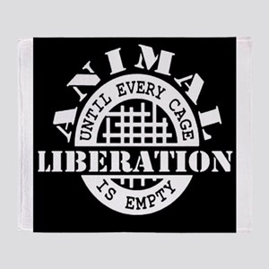 Animal Liberation - Until Every Cage Throw Blanket