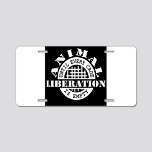 Animal Liberation - Until E Aluminum License Plate