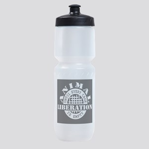 Animal Liberation - Until Every Cage Sports Bottle