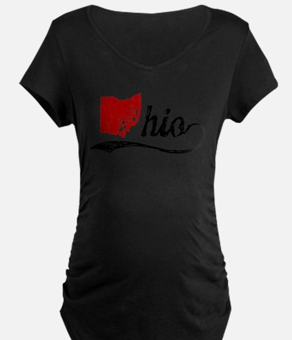 Ohio Script Maternity T-Shirt