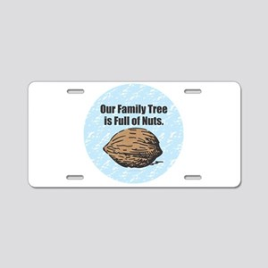 Family Tree Nuts Aluminum License Plate
