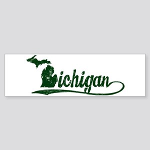 Michigan Script Bumper Sticker