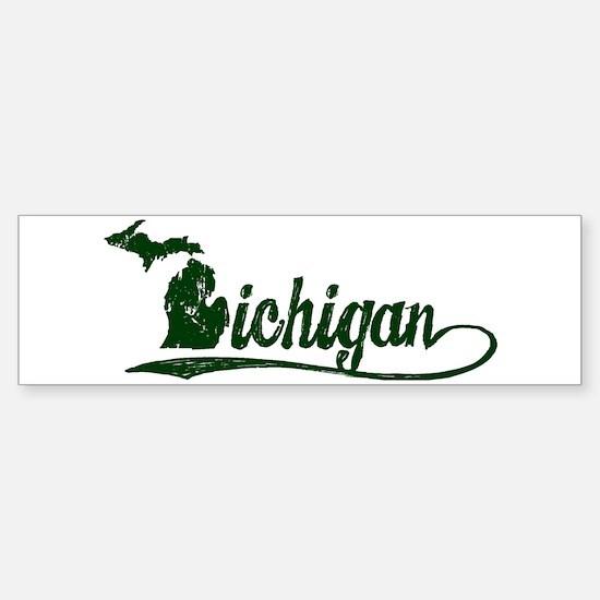 Michigan Script Bumper Bumper Bumper Sticker
