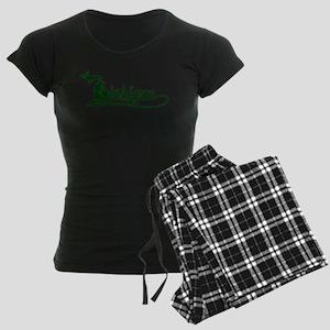 Michigan Script Women's Dark Pajamas